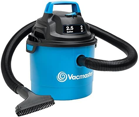 Vacmaster Portable Wall Mountable Wet Dry Vac, 2.5 Gallon, 2 HP 1-1 4 Hose VOM205P , Blue