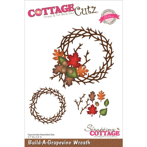 CottageCutz CCE064 Elites Die Cuts, 3.7 by 3.5-Inch, Build-A-Grapevine Wreath