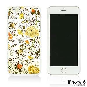 OnlineBestDigital - Flower Paintings Hardback Case for Apple iPhone 6 (4.7 inch)Smartphone - Vintage Floral Print