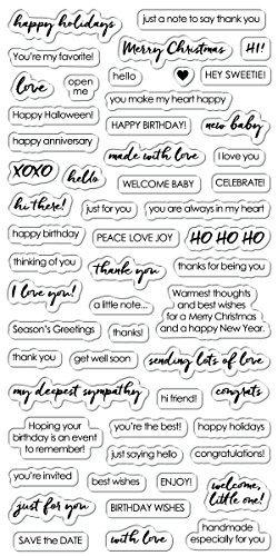 (Fisakrs 4x8 Inch Clear Stamps- Essential Sayings)