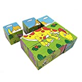 Rolimate Wooden Dinosaur Jigsaw Puzzles, Able to Combined Into 6 Different Colorful Pictures, Good Gifts Toys for 2 3 Year Old Toddlers Kids(boys or Girls)