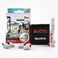 Alpine MotoSafe Pro Motor oordoppen voor Touring & Racing - Voorkomt gehoorbeschadiging van windruis bij motorrijden - 2…