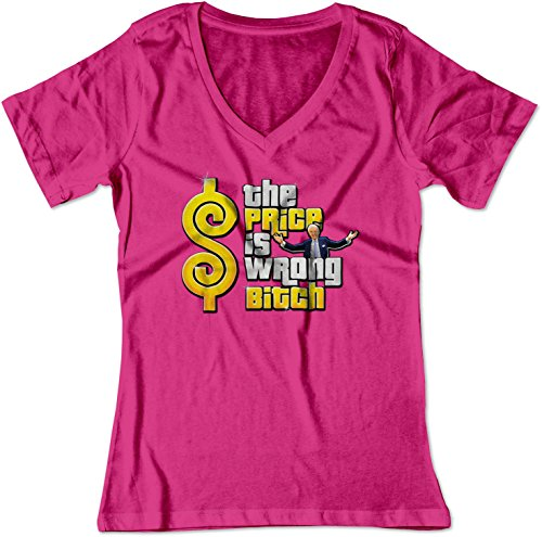 BSW Women's The Price is Wrong Bob Barker Happy Gilmore V-Neck 3XL Raspberry