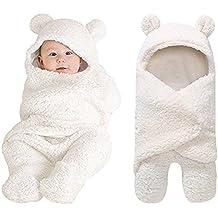Newborn Baby Boys Girls Cute Cotton Plush Receiving Blanket Sleeping Wrap Swaddle