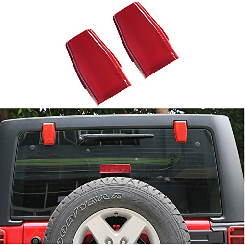 - AVOMAR 2pcs ABS Rear Upper Glass Door Liftgate Hinge Covers Tailgate Hinge Trims for Jeep Wrangler & Unlimited JK 2007-2017 (red)