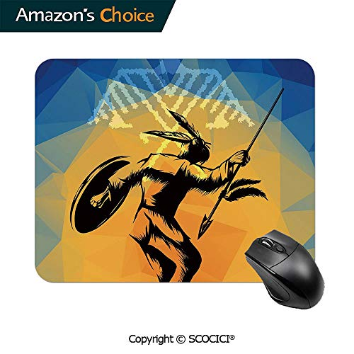 Gaming Mouse Pad,War Dance Ritual Against Ancient Totem Poly Effect Triangles Abstract,Mouse Pads for Computers Laptop