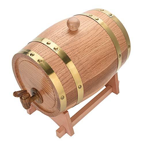 Oak Barrel, 3L Vintage Wood Oak Timber Wine Barrel Dispenser for Whiskey Aging Barrel Bourbon Tequila Brewing Port Kegs (3L) by Yosooo (Image #6)