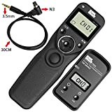 Pixel TW-283/N3 LCD Wireless Shutter Release Timer Remote Control for Canon 7D 5D series 50D 40D 30D 10D