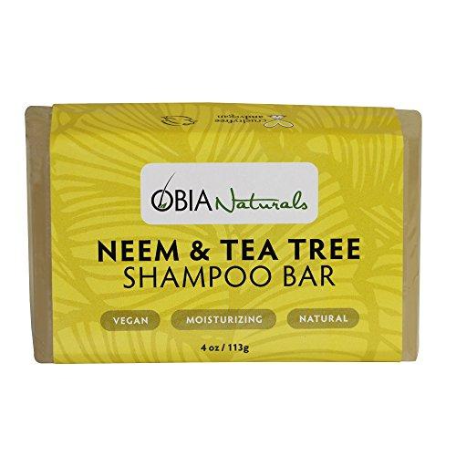 (OBIA Naturals Shampoo Bar Neem & Tea Tree Cleansing Wash, 4 oz.)