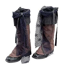 Cubre botas para disfraz de Jack Sparrow, color marrón