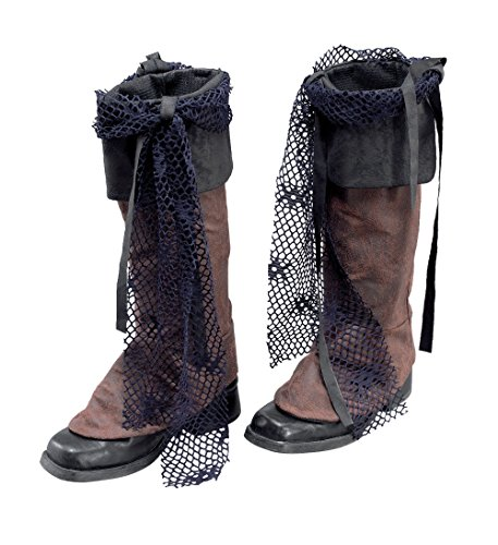 Bristol Novelty BA015 Distressed Look Pirate Boot Tops, Black, One Size