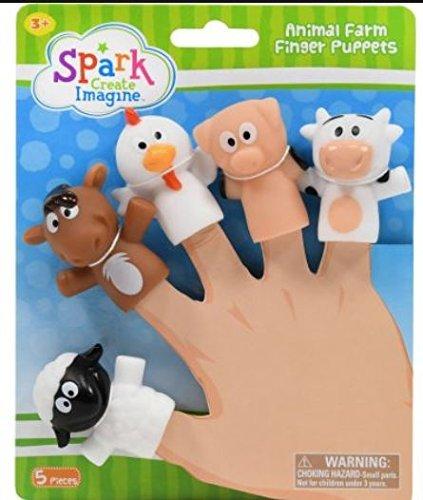 Animal Farm Finger Puppets (Farm Animals Lunch)