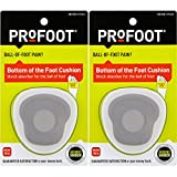PROFOOT, Bottom of The Foot Cushion, 2 Pair, Ball of Foot Cushion Provides Padding to Metatarsals, Avoid Callouses, Helps Reduce Pain in The Forefoot, Try for Relief from Neuroma, Good for High Heels