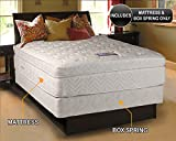 Lexus Pocket Coil Box Pillow Top Plush Firm Full Size Mattress and Box Spring Set