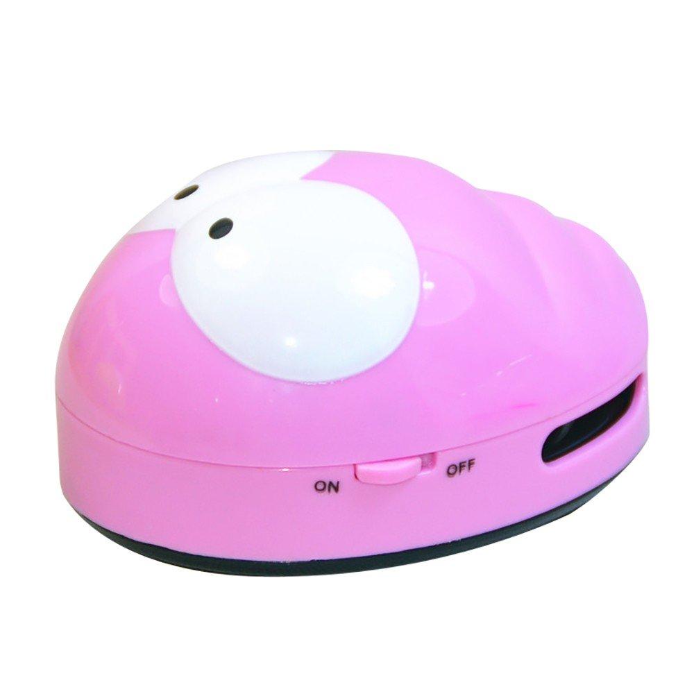 Cute Mini Caterpillar Corner Desk Table Dust Vacuum Micro Sweepers Cleaning TwoCC Accesorios de aspiradora rosa