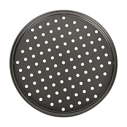 Fenteer Geperforeerde pizza pan carbon staal bakplaat pizza bakplaat voor party grill – 28cm