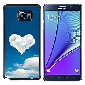 YiPhone /// Prima de resorte delgada de la cubierta del caso de Shell Armor - Corazón de la nube - Samsung Galaxy Note 5 5th N9200