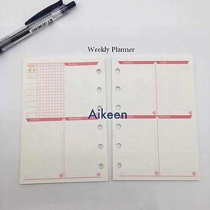Amazon.com : Cute Cartoon Loose Leaf Notebook Notepad Refill ...