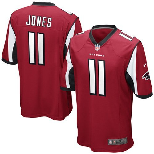 Nike NFL Youth Atlanta Falcons JULIO JONES # 11 Game Jersey, Red (Medium (10-12), Red)
