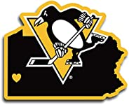 NHL Siskiyou Sports Fan Shop Pittsburgh Penguins Home State Decal One Size Team Color