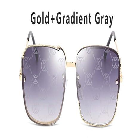 Yangjing-hl Gafas de Sol cuadradas de Gran tamaño Mujeres ...