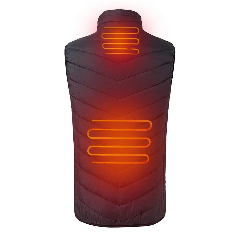 iMixCity Gilet Riscaldato Leggero Unisex 3 Strati di Riscaldamento Elettrico in Fibra di Carbonio USB Gilet Sportivo
