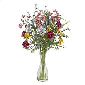 Nearly Natural 4696 Veranda Garden Silk Flower Arrangement, Mixed 35