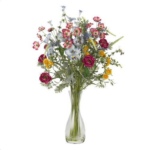 Nearly Natural 4696 Veranda Garden Silk Flower Arrangement, ()