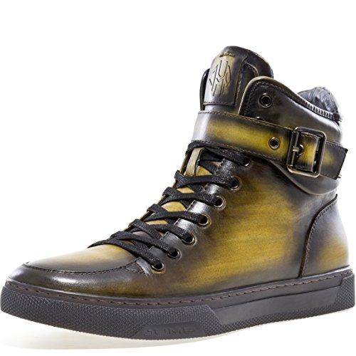Jump Newyork Men's Sullivan High-Top Fashion Sneaker Yellow 10.5 D US -