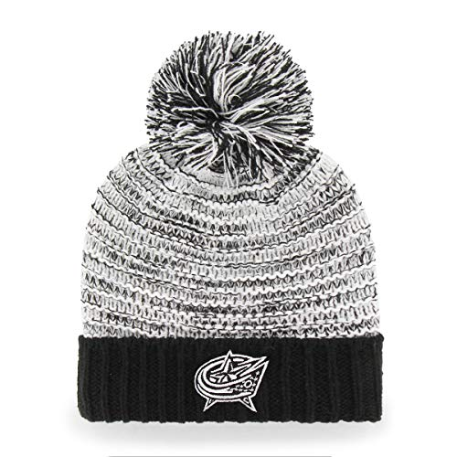 OTS NHL Columbus Blue Jackets Female Sansa Cuff Knit Cap, Black, Women's (Sansa Accessory)