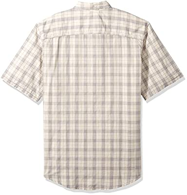 G.H. Bass & Co. Men's Big and Tall Short Sleeve Madawaska Plaid Trail Shirt