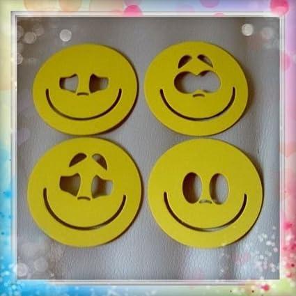 Plantillas para pintar caras de fofuchas para bolas de porex de 8 cm: Amazon.es: Hogar