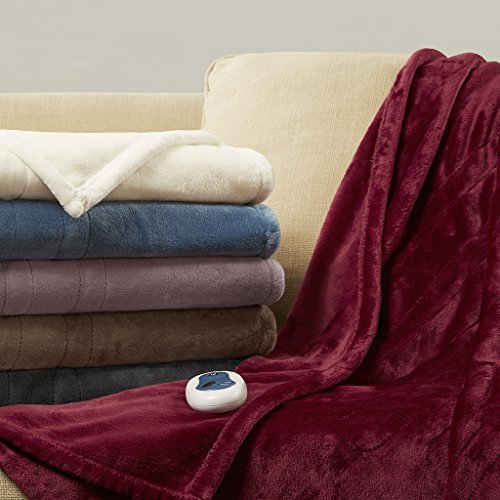 Beautyrest Heated Plush Throw Lavender (Beautyrest Electric Blanket)