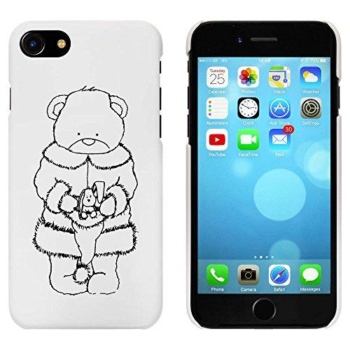 Blanc 'Ours et Lapin Noël' étui / housse pour iPhone 7 (MC00060970)