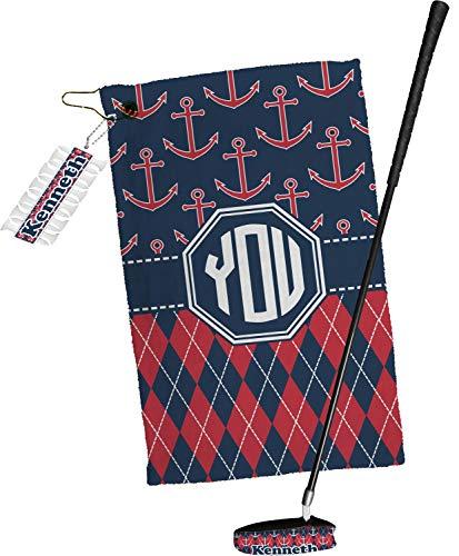 Argyle Golf Towel - YouCustomizeIt Anchors & Argyle Golf Towel Gift Set (Personalized)