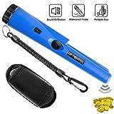 PiAEK Pin Pointer Metal Detectors for Adults/Kids, Handheld Fully Waterproof Pro Metal Detector High Sensitivity with Holster Treasure Hunting Blue