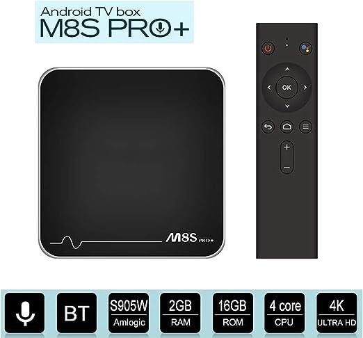 HCDMRE M8S Pro + W Android 7.1.2 Caja de TV con 2GB RAM 16GB ROM ...