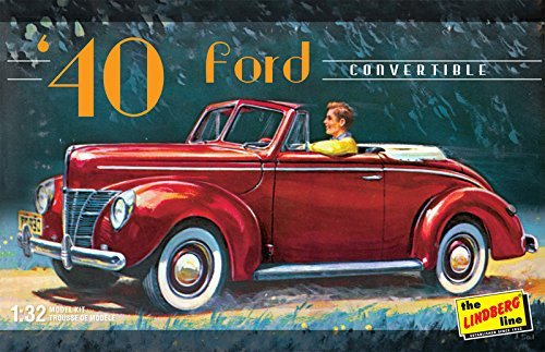 Lindberg HL119/12 1/32 1940 Ford Convertible (1940 Convertible Ford)