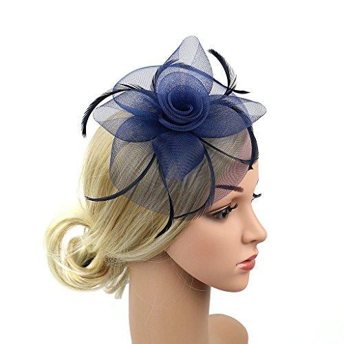 HANXIAODONG Cocktail Tea Party Headwear Flower Polka Dot