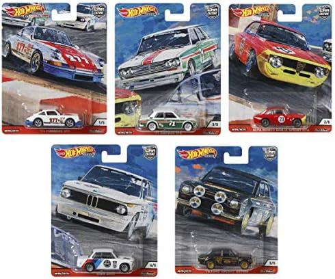 ホットウィール カーカルチャー ドアスラマーズ アソートミニカー10台入り ポルシェ911(2台) ダットサン510(2台) アルファロメオ・ジュリアスプリントGTA(2台) BMW2002(2台) フォード・エスコートRS1600(2台) 986N-FPY86