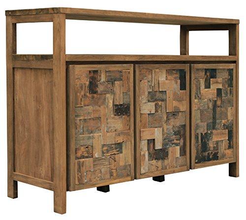 Recycled Teak Mozaik Buffet 3 Wooden Doors Made By Chic Teak My