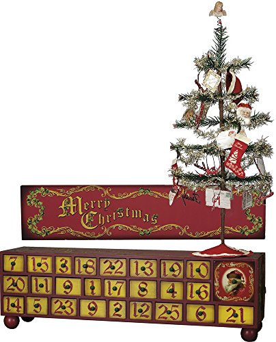 Vintage Advent Box with Tree and Ornaments by Heart of America (Image #1)