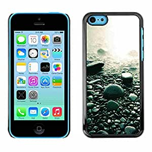 Shell-Star ( Beach Black Rocks Water Pebbles Nature ) Snap On Hard Protective Case For Apple iPhone 5C