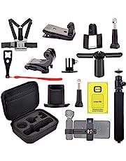 PULINKAI Accessoireset voor DJI OSMO Pocket - draagtas, houder, borstriem, cliphouder, statiefhouder voor Osmo Pocket uitbreidingsaccessoireset
