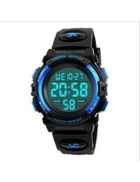 Boy Digital Sport Watch Led Military Waterproof Electronic Wrist Watch with Alarm Stopwatch Calendar Date for Boy Girl – Blue