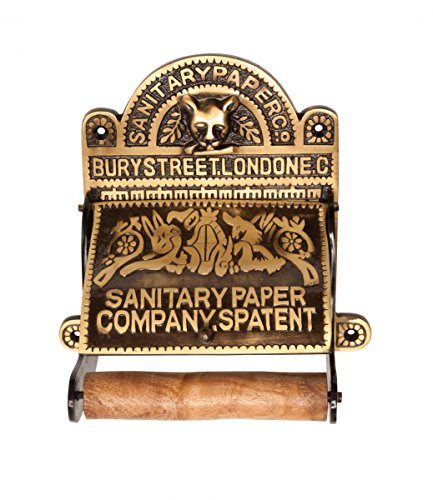 Antique Ornate Brass - Renovator's Supply Antique Brass Toilet Paper Tissue Holder Sanitary Paper Co.