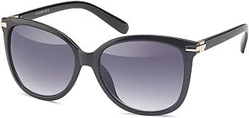 Elegante Kunststoff-Sonnenbrille in Schmetterlings-Form UV400 Filter - Im Set mit Etui