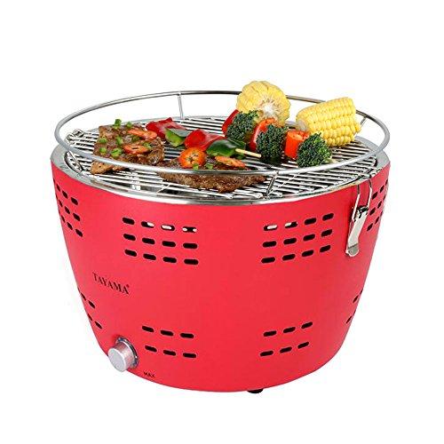 tayama tyq-001portátil barbacoa de carbón, color rojo