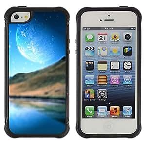 Be-Star único patrón Impacto Shock - Absorción y Anti-Arañazos Funda Carcasa Case Bumper Para Apple iPhone 5 / iPhone 5S ( Abstract Planet Landscape )