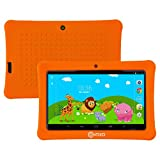 HOLIDAY SPECIAL! Contixo KiDOZ Kid Safe 7'' HD Tablet WiFi 8GB Bluetooth, Free Games, Kids-Place Parental Control W/ Kid-Proof Case (Orange) - Best Gift For Christmas